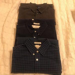 H&M Mens Button Down Shirt Lot of 3